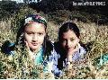 """Tam and Inah at the Mt. Pulag Grasslands"""